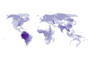 Global Distribution of Freshwater Megafauna