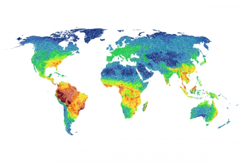 Global Distribution of Freshwater Dependent Amphibians